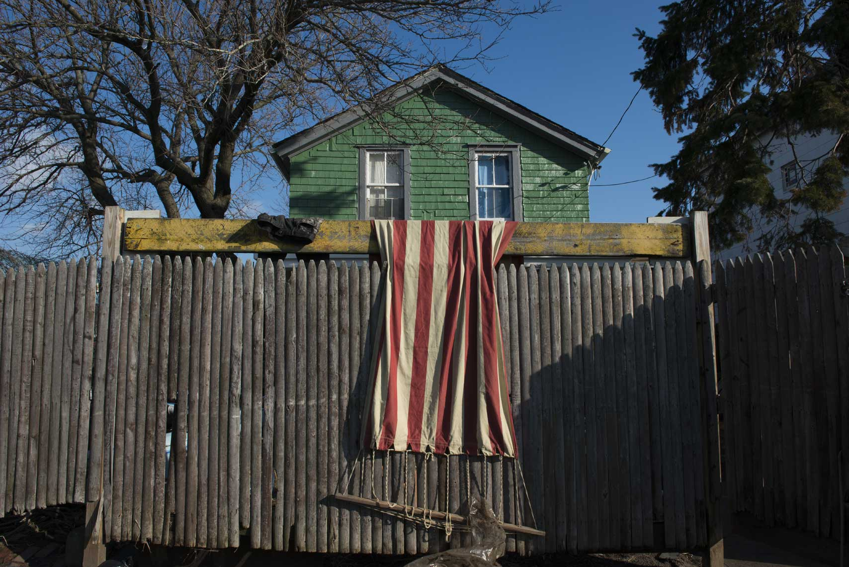 American-flag-hung-to-dry-after-Sandy