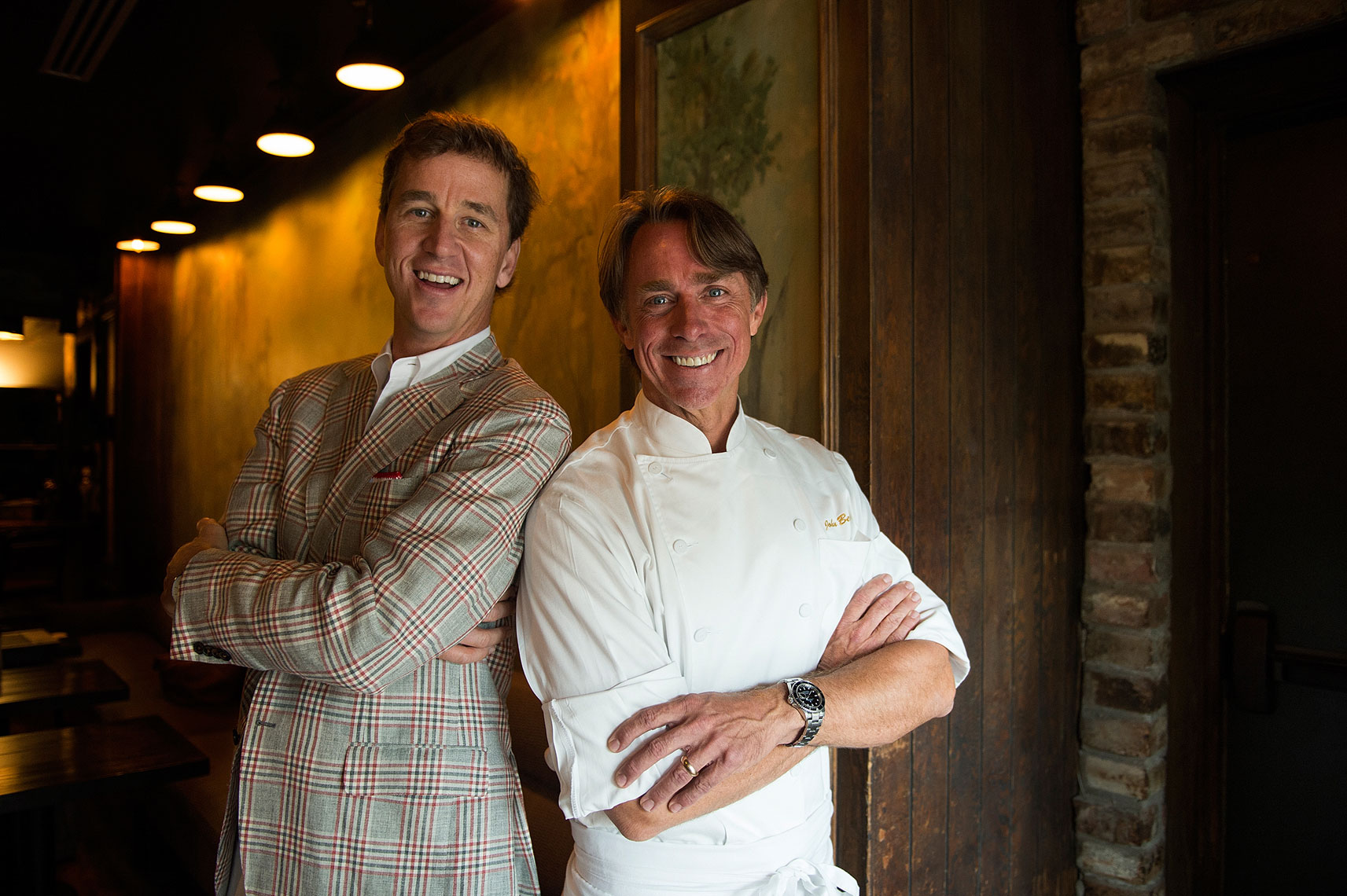 Cooper-Manning-and-John-Besh-at-Pontchartrain-hotel