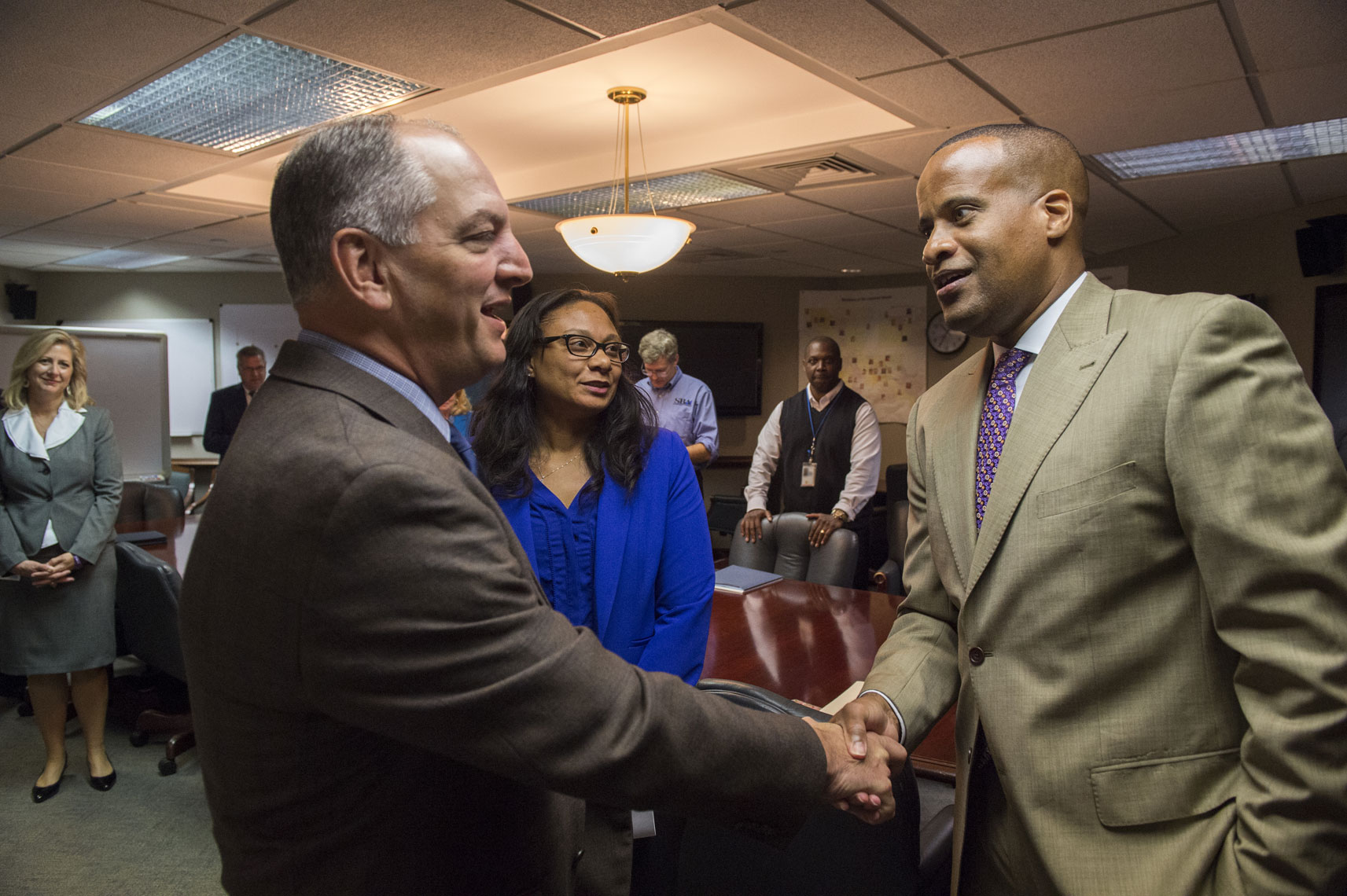Governor-John-Bell-Edwards-meets-secretary-of-commerce-in-baton-rouge