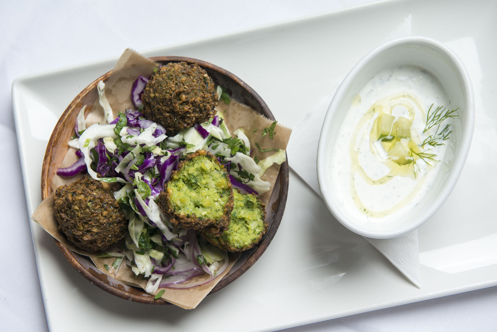 Israeli-falafel-with-cabbage-at-Shaya-restaurant