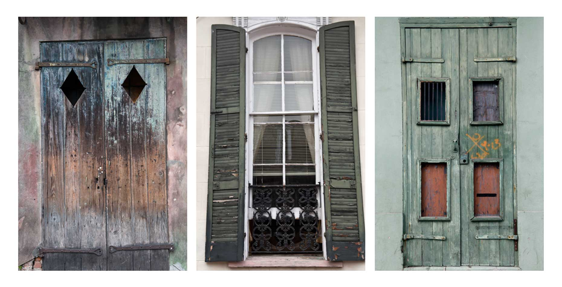 New-orleans-shutters-and-doors-tryptich