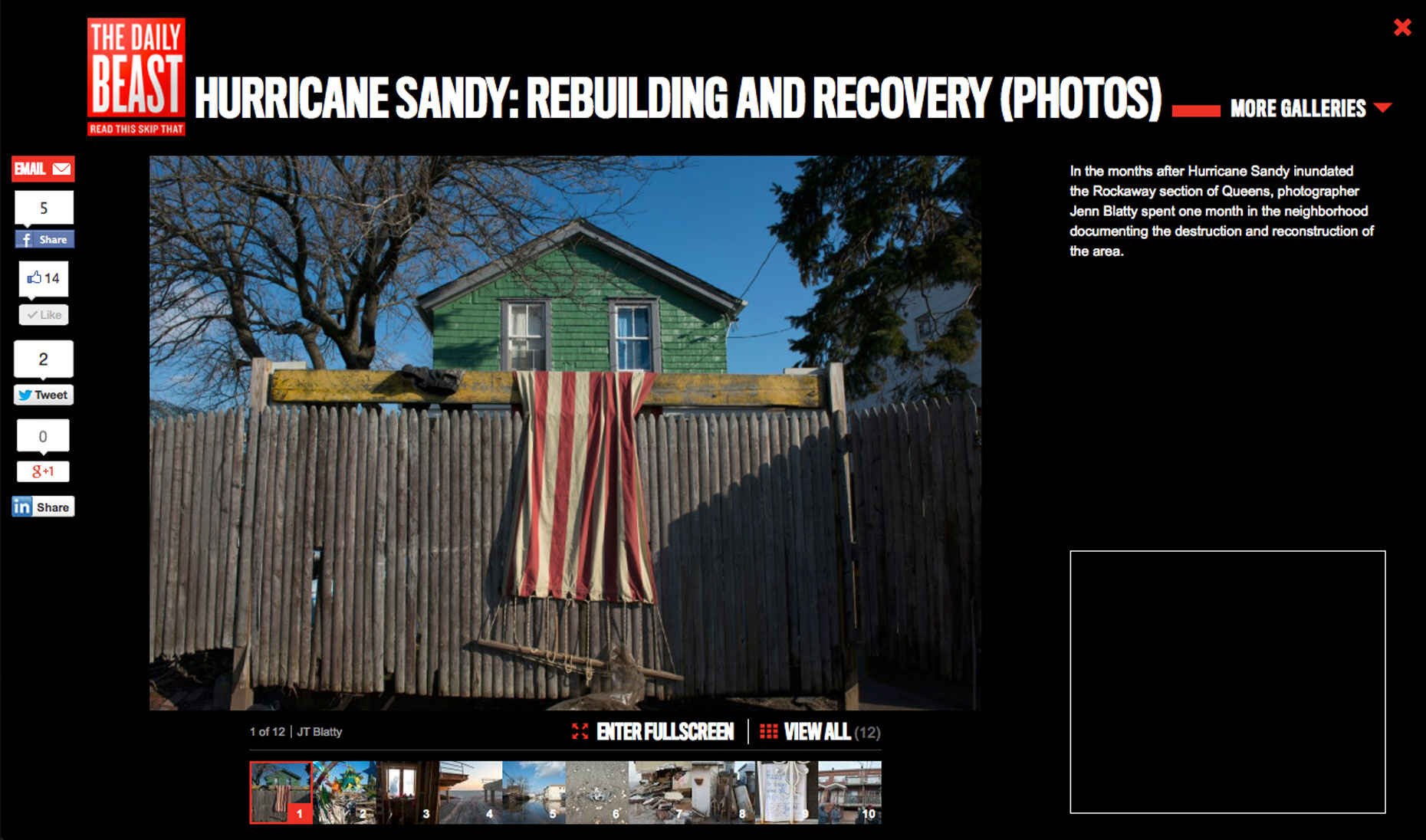 Newsweek/the Daily Beast Sandy Recovery
