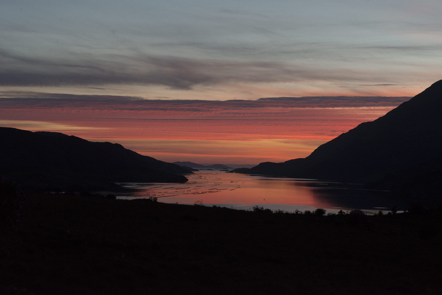 Sunset-over-the-fjord-in-Ireland
