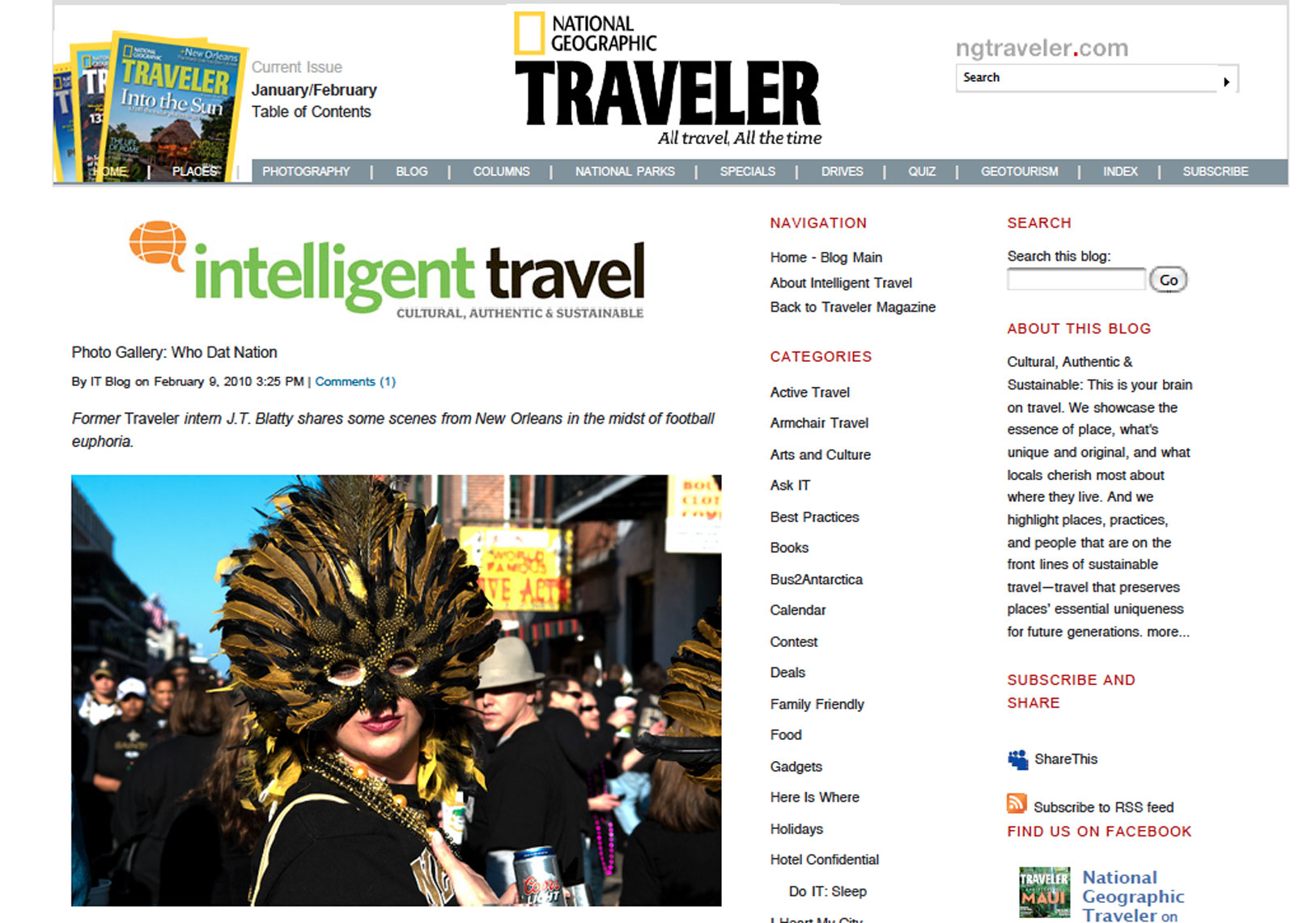 National Geographic Traveler: Who Dat Nation Photo Gallery